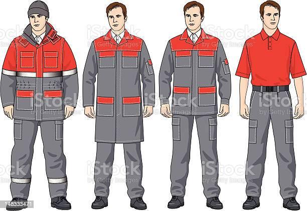The Clothes-vektorgrafik och fler bilder på Arbetsoverall