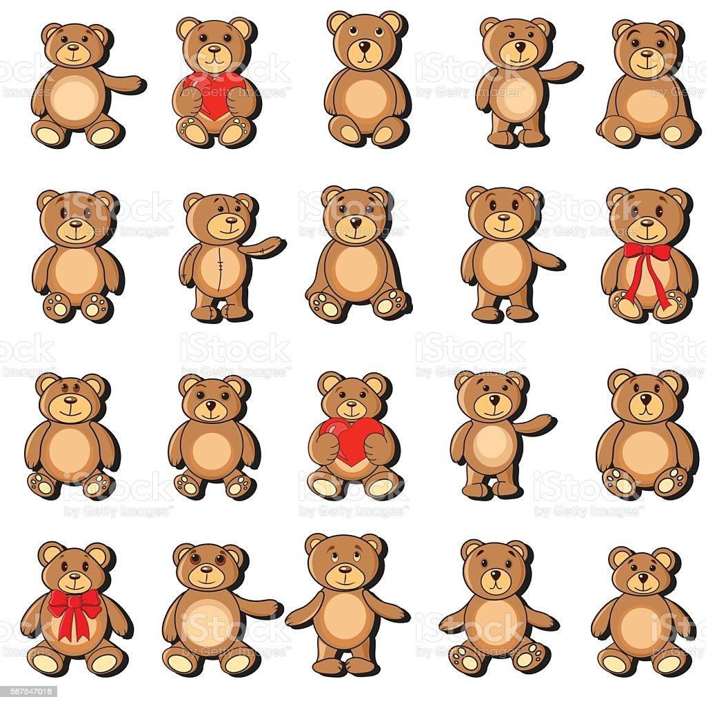 the collection bears in EPS vector – Vektorgrafik