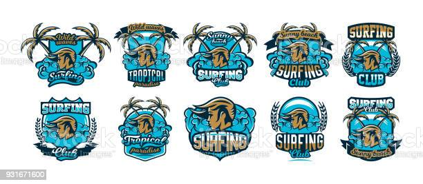 The collection set colorful emblems icons stickers girl surfer waves vector id931671600?b=1&k=6&m=931671600&s=612x612&h=qokjzmhnitrgbeabkq95mresiqj5nxs0day joh3 vw=