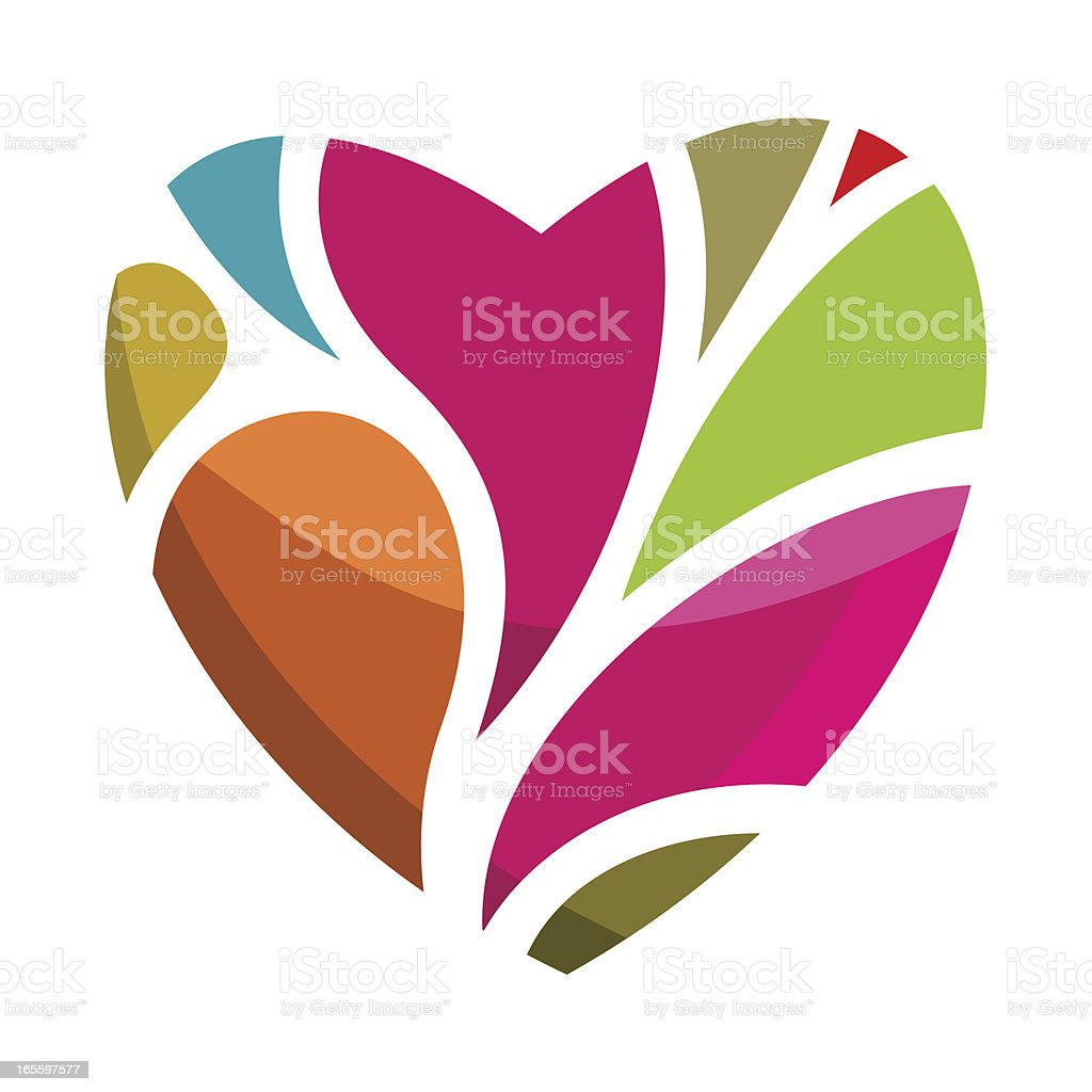 The colors of love royalty-free stock vector art