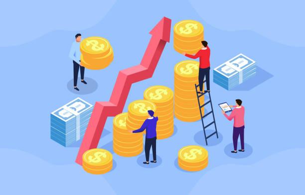 Das Konzept der Geschäftsfinanzierung – Vektorgrafik