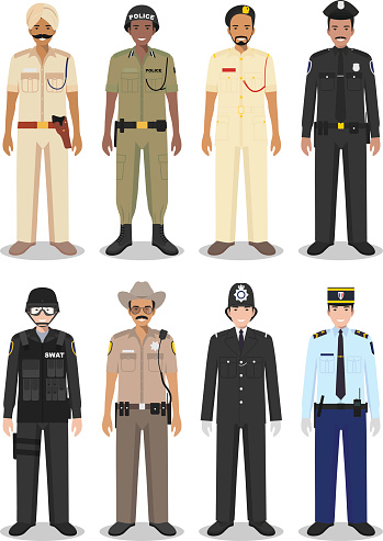 The concept of international police: sheriff, gendarme and policeman.