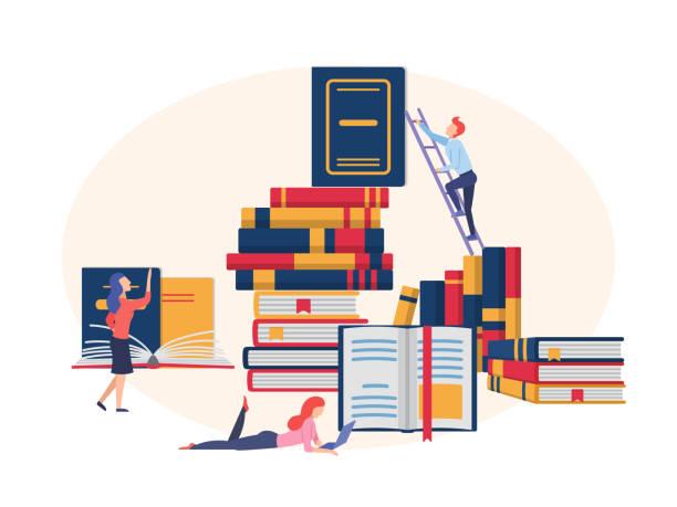 Das Konzept der Ausbildung, Bildung, Literaturfestival. – Vektorgrafik