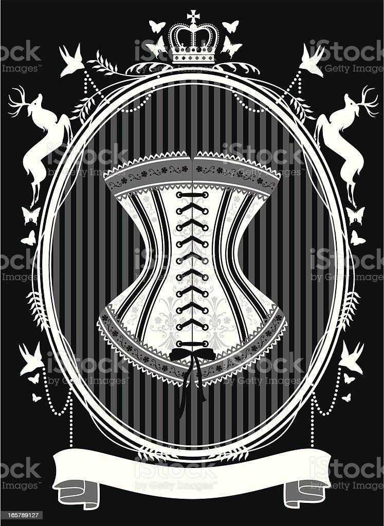 The Corset royalty-free stock vector art