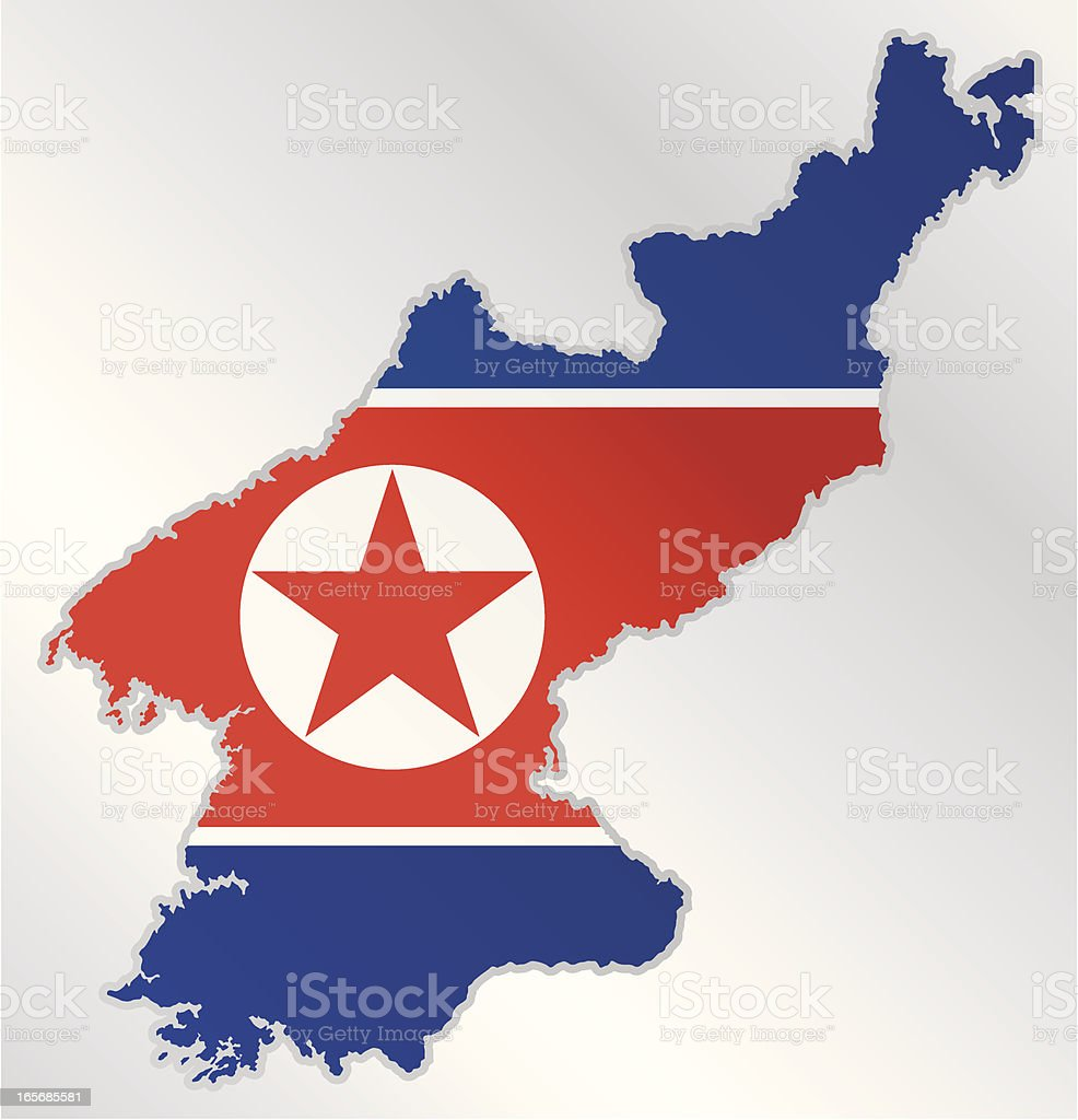 The country of North Korea with their flag royalty-free the country of north korea with their flag stock vector art & more images of asia