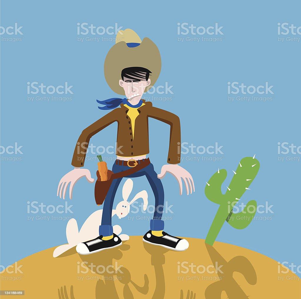 The cowboy vector art illustration