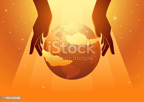 Biblical vector illustration series, The Creation of the World