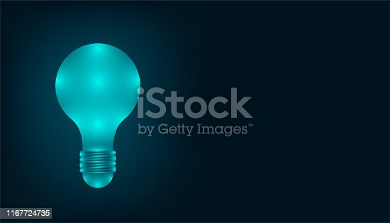 the creative lightbulb ideas that mean everything from your brain. copy space for your nice text. vector illustration eps10