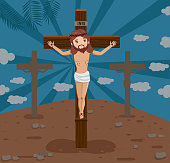 istock The Crucifixion of our Lord Jesus Christ 1216277009