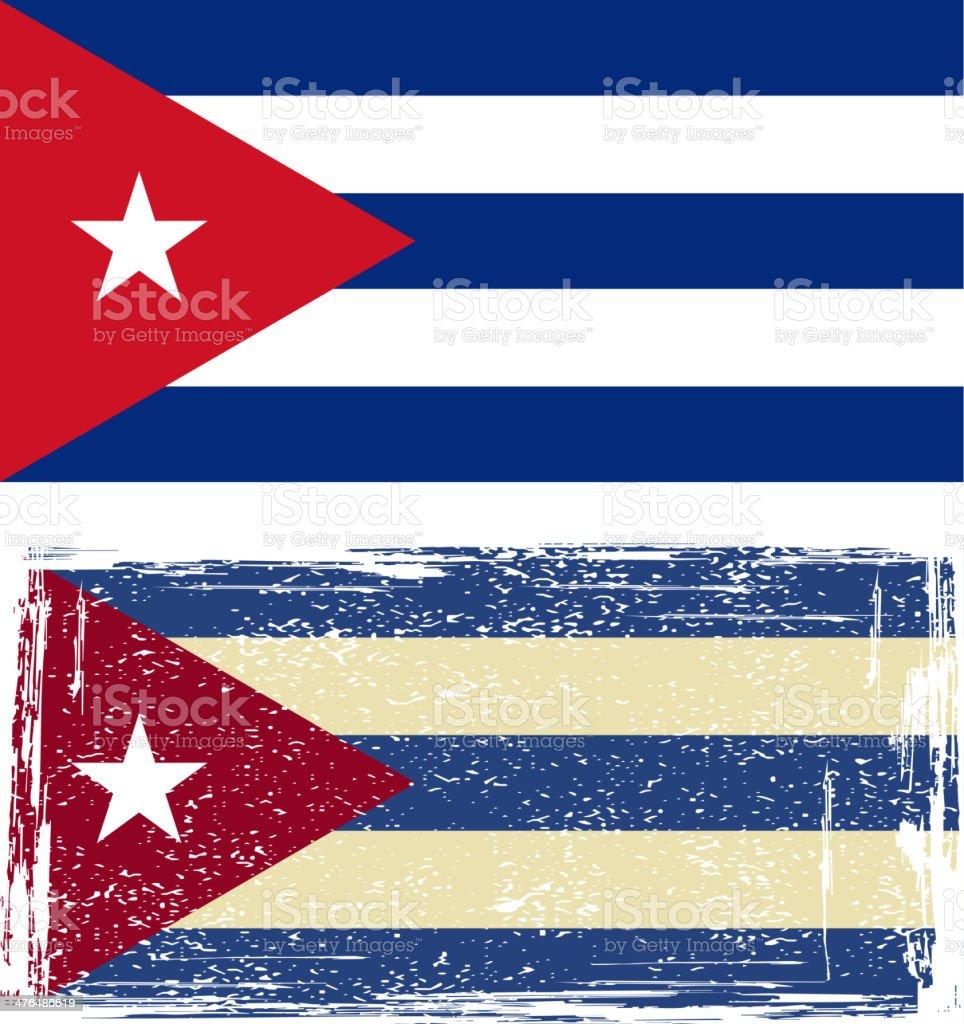 the Cuban grunge flag vector art illustration