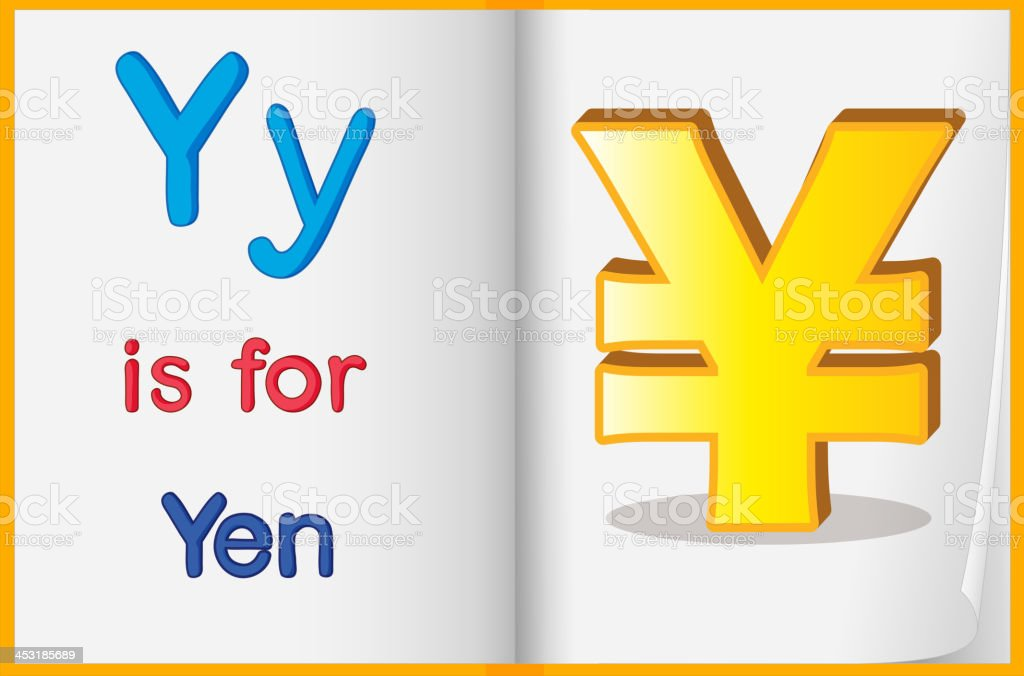 The currency Yen royalty-free stock vector art