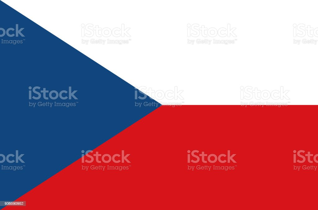 the czech republic national flag, official flag of the czech republic accurate colors, true color