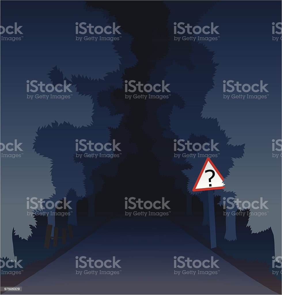 The Dark Road of Mystery royalty-free the dark road of mystery stock vector art & more images of asphalt