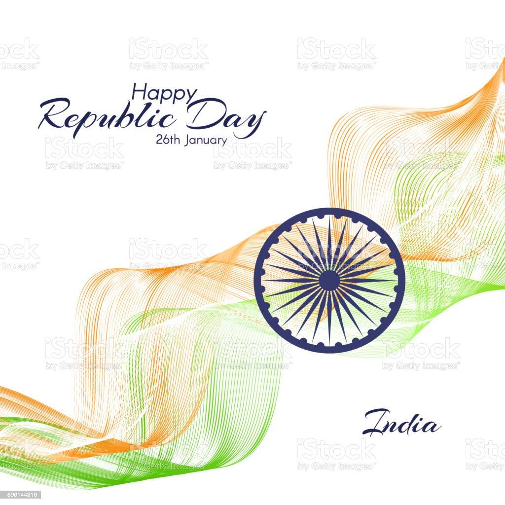 Ilustración De El Día De La República En India De
