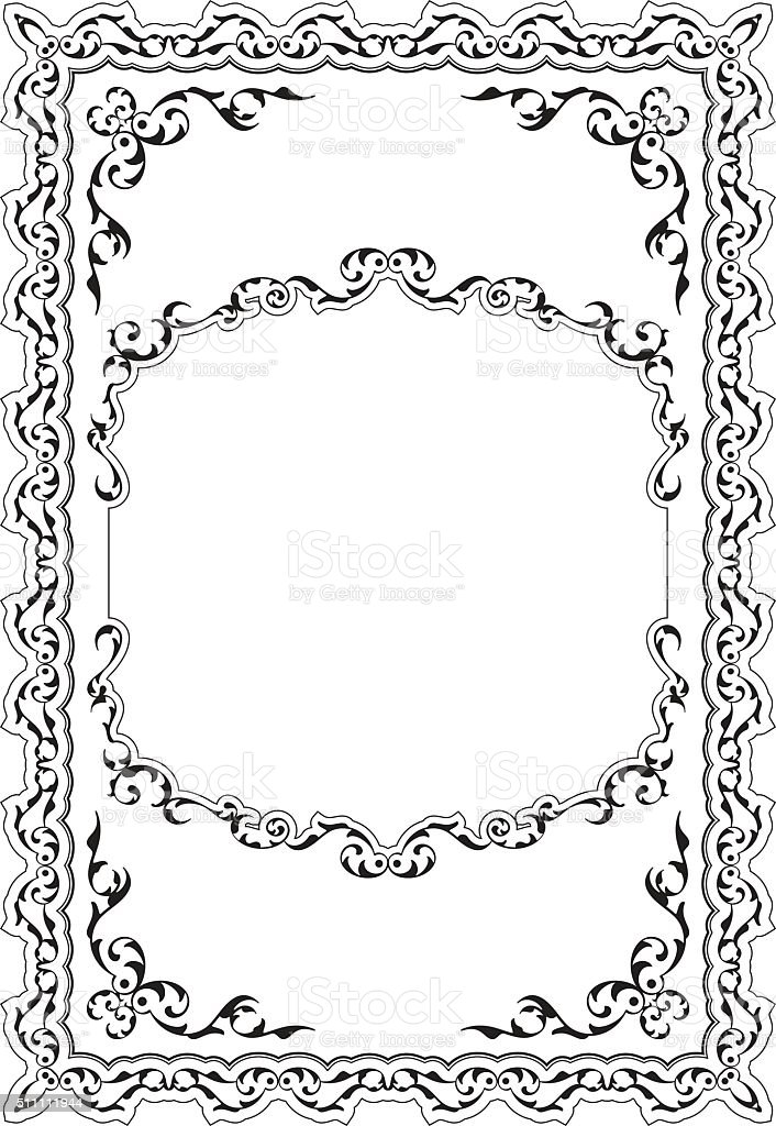 The decor baroque nice frame isolated on white
