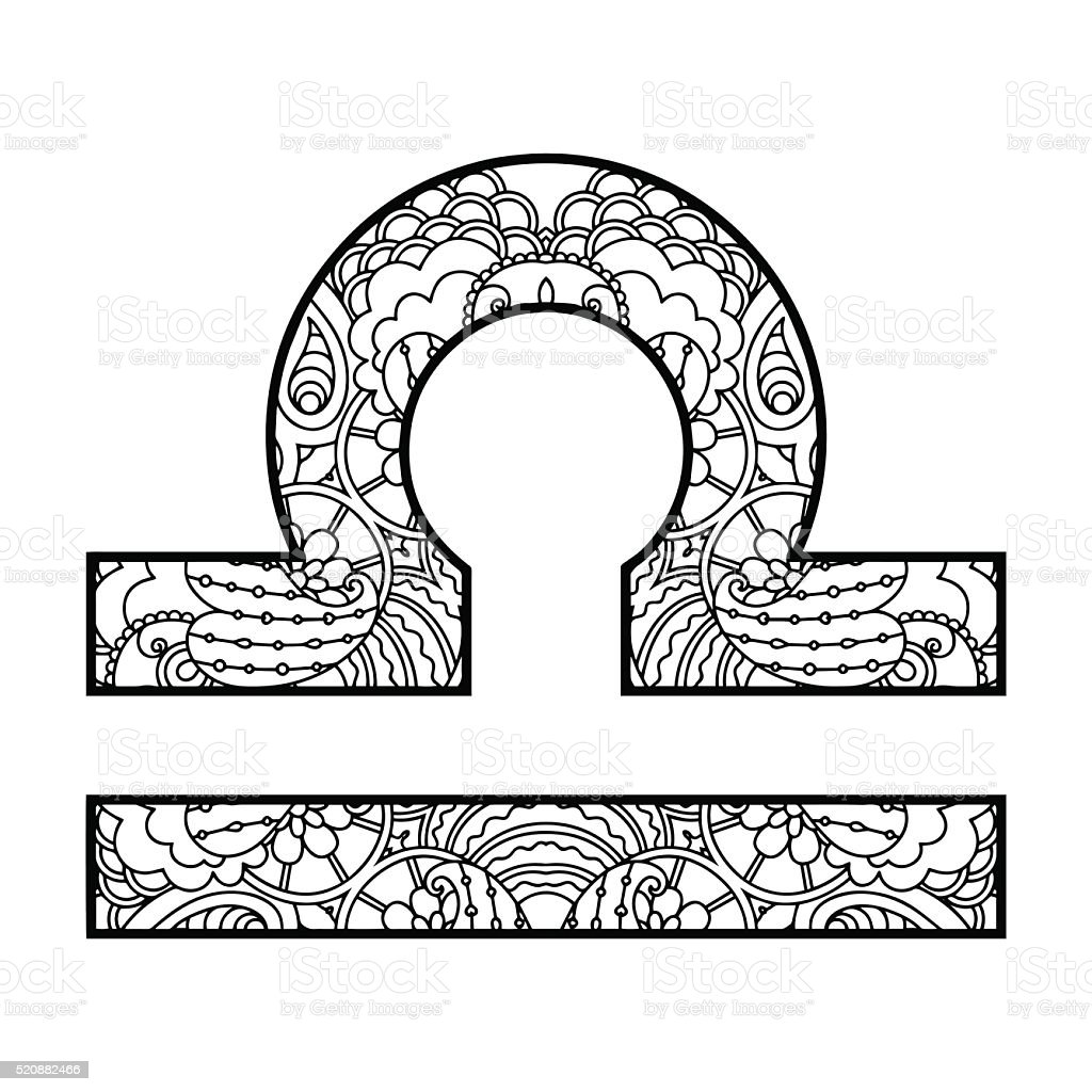 The decorative icon for the zodiac sign libra stock vector art the decorative icon for the zodiac sign libra royalty free the decorative icon for buycottarizona