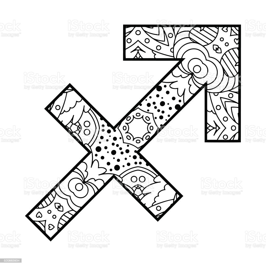 The decorative icon for the zodiac sign sagittarius stock vector the decorative icon for the zodiac sign sagittarius royalty free the decorative icon for biocorpaavc