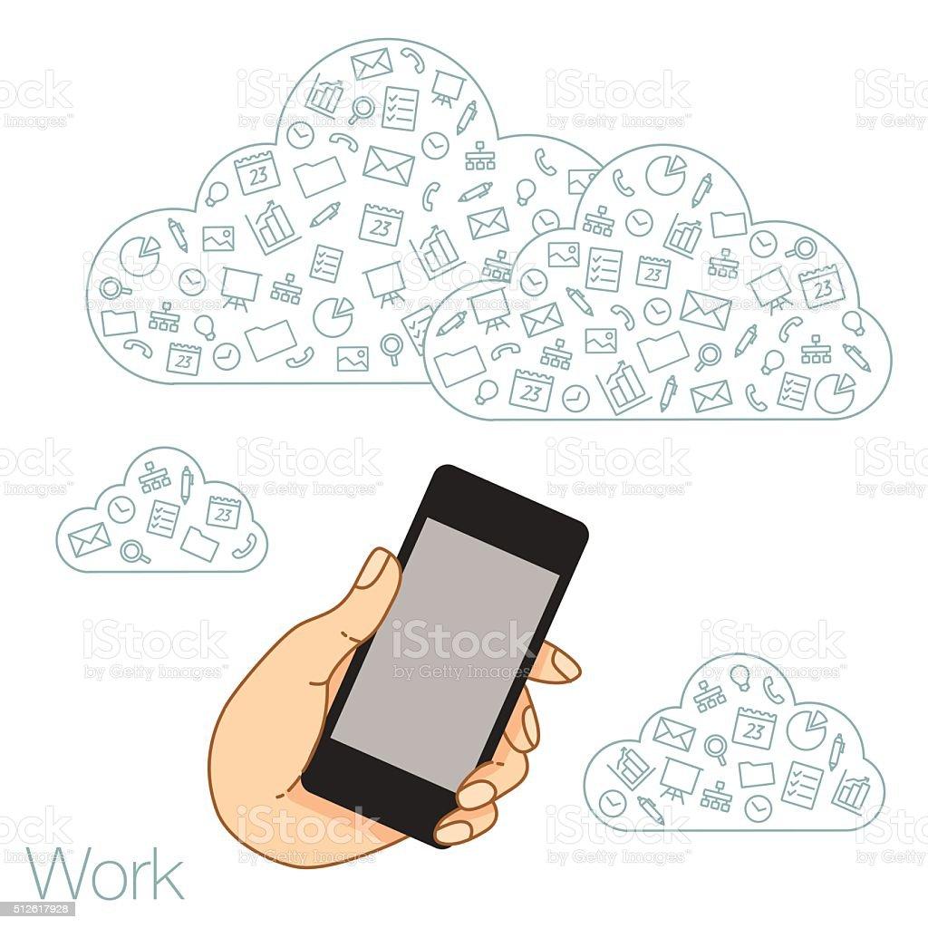 Die Vorführung Bildschirm Tablet Für Präsentation Anwendungen Vektor ...
