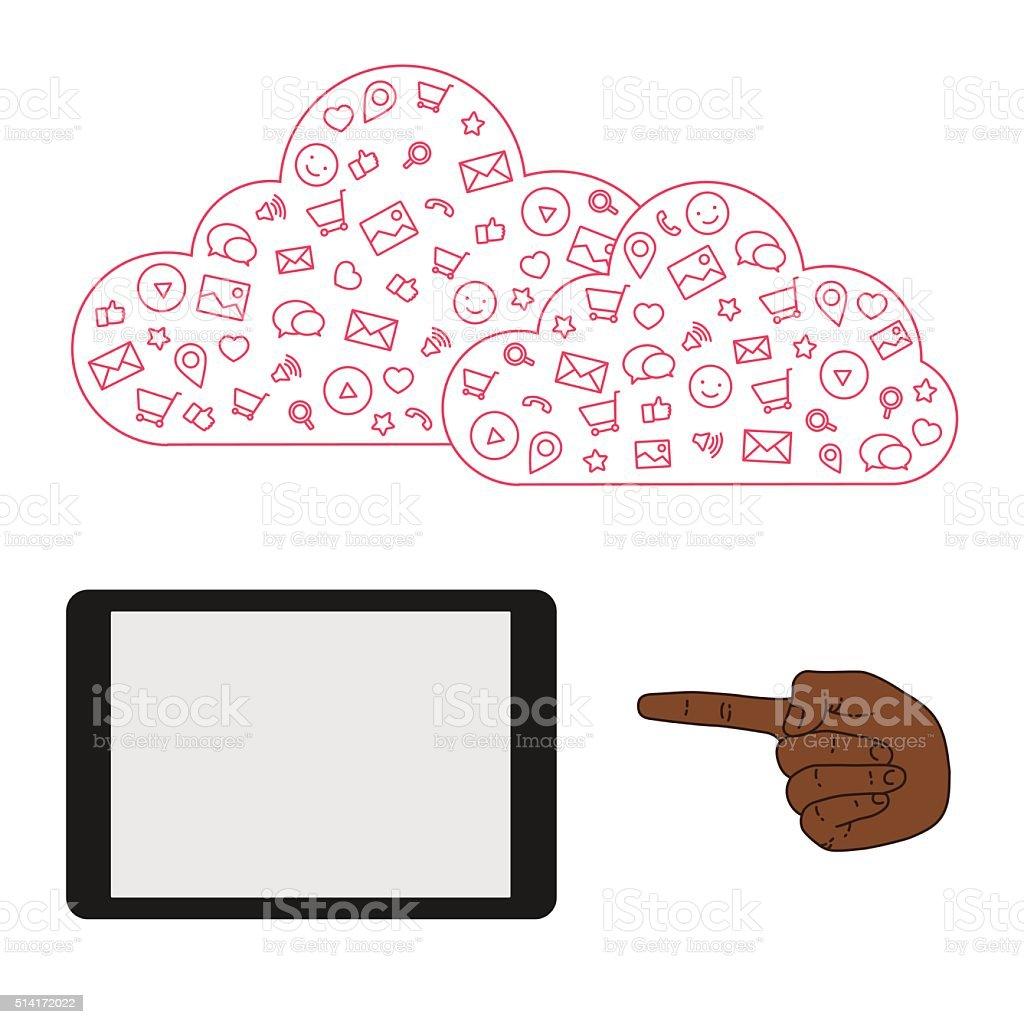 Die Vorführung Bildschirm Tablet Für Präsentation Anwendungen Stock ...