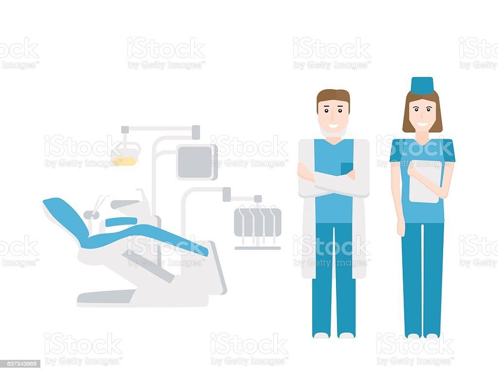 The dentist's office. vector art illustration