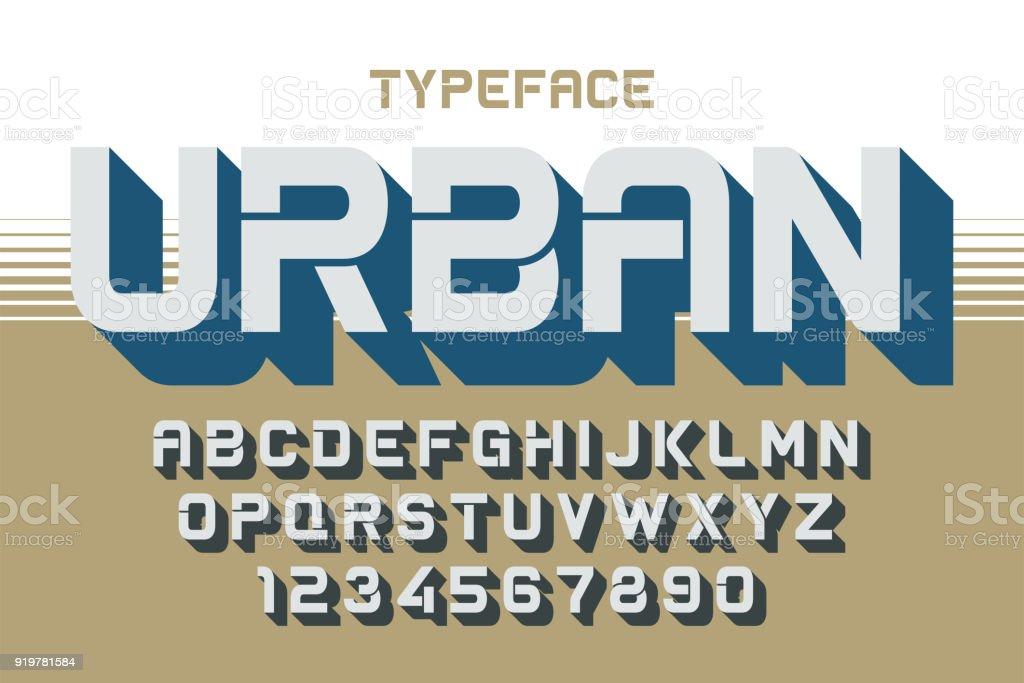 The Depth vector decorative font design, alphabet, typeface, typ vector art illustration