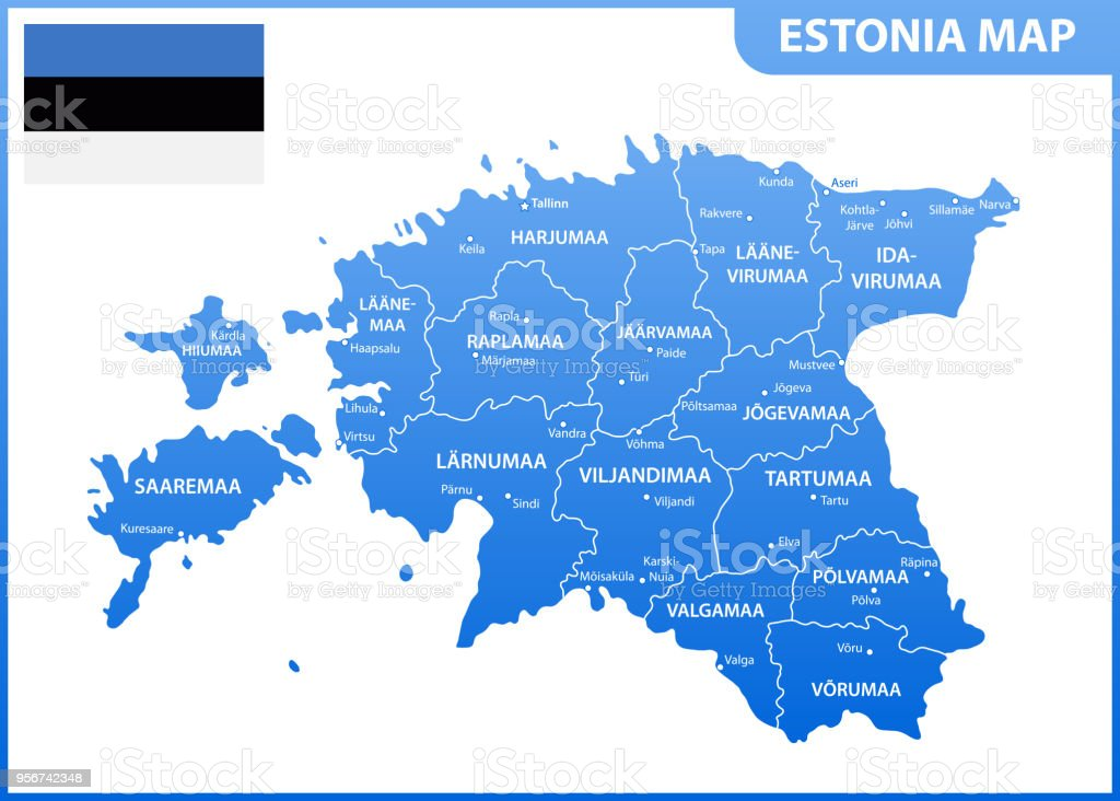 The detailed map of estonia with regions or states and cities the detailed map of estonia with regions or states and cities capital administrative division gumiabroncs Image collections