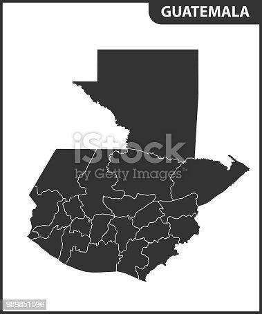 地域とグアテマラの詳細地図行政...