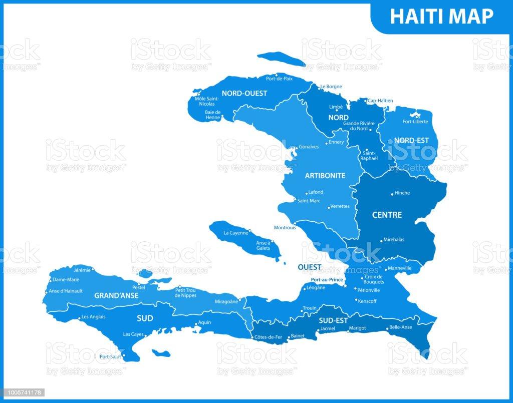 Die Detaillierte Karte Von Haiti Mit Regionen Oder Staaten Und ...