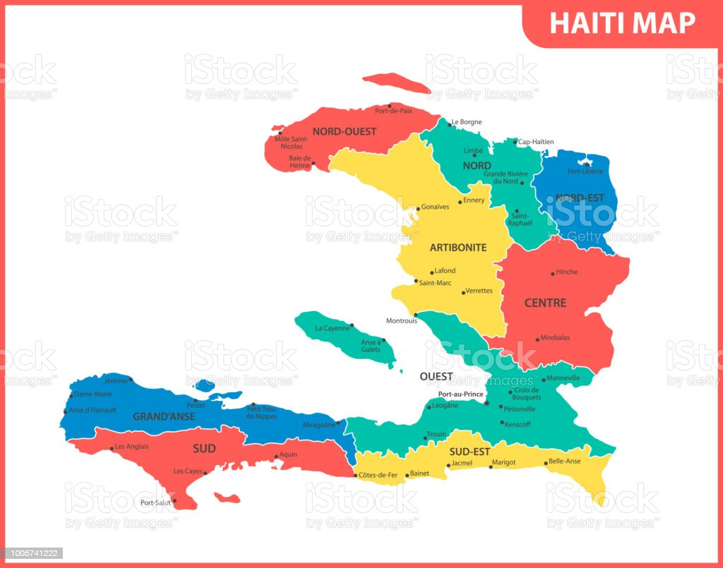 The Detailed Map Of Haiti With Regions Or States And Cities Capital ...