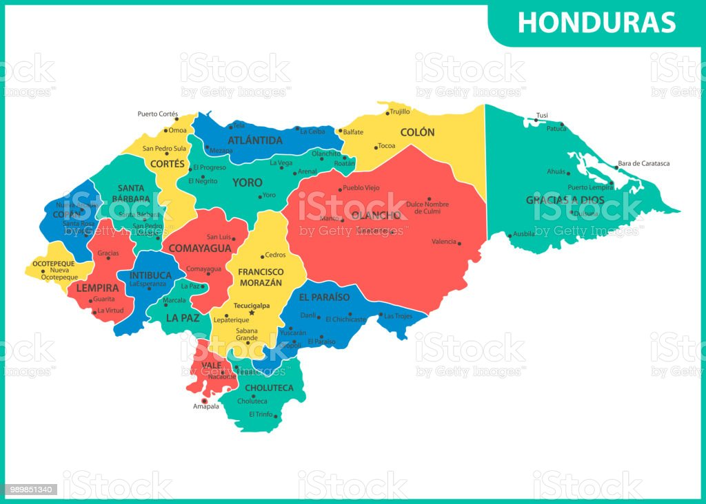 The detailed map of honduras with regions or states and cities the detailed map of honduras with regions or states and cities capital administrative division gumiabroncs Gallery