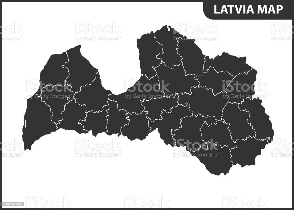地域や国とラトビアの詳細地図行...