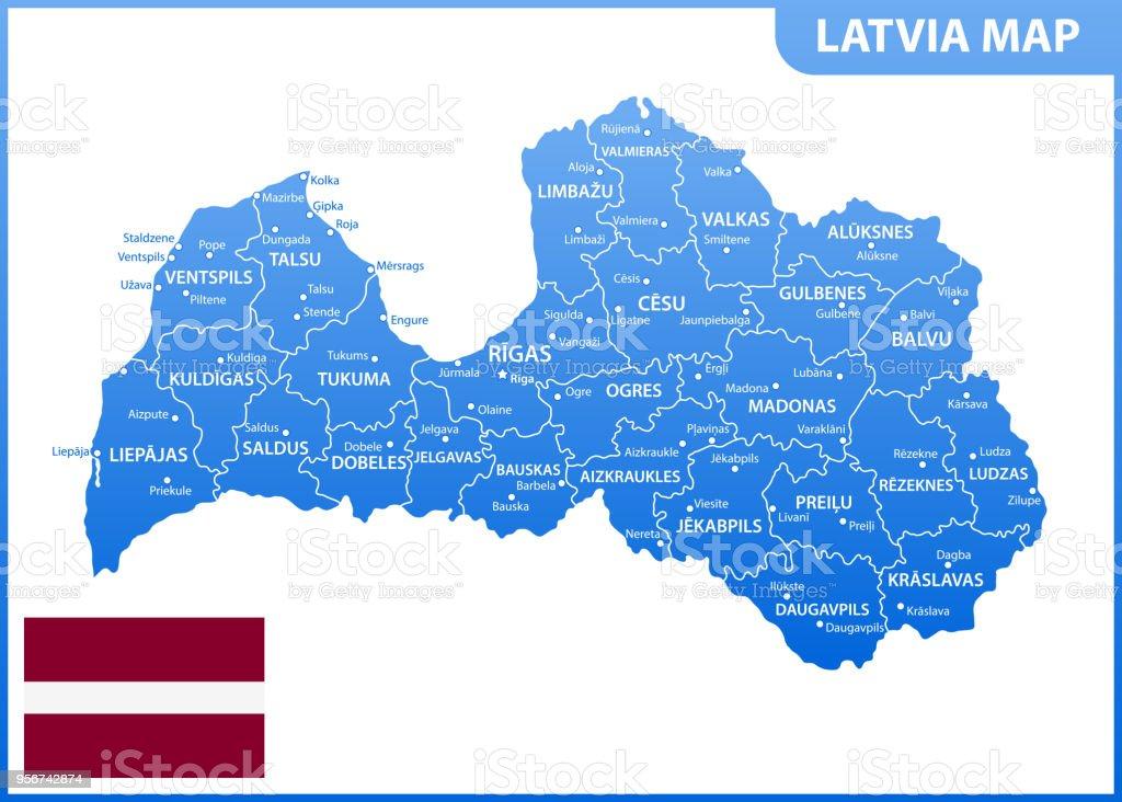 地域または州と都市首都ラトビア...