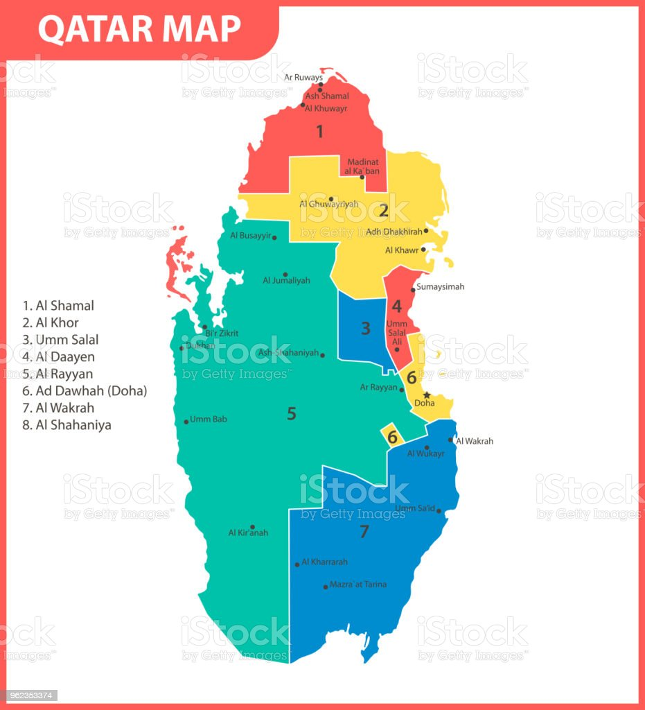 The Detailed Map Of Qatar With Regions Or States And Cities ... on italy map area, algeria map area, cape verde map area, jamaica map area, bangladesh map area, kuwait map area, lebanon map area, puerto rico map area, palestine map area, egypt map area, rwanda map area, syria map area, middle east map area, iceland map area, haiti map area, japan map area, albania map area, asia map area, cayman islands map area, saudi arabia map area,