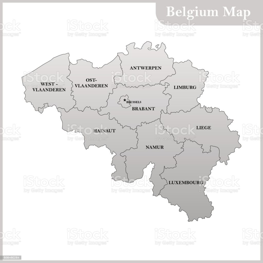 the detailed map of the belgium with regions or states and capital royalty free the