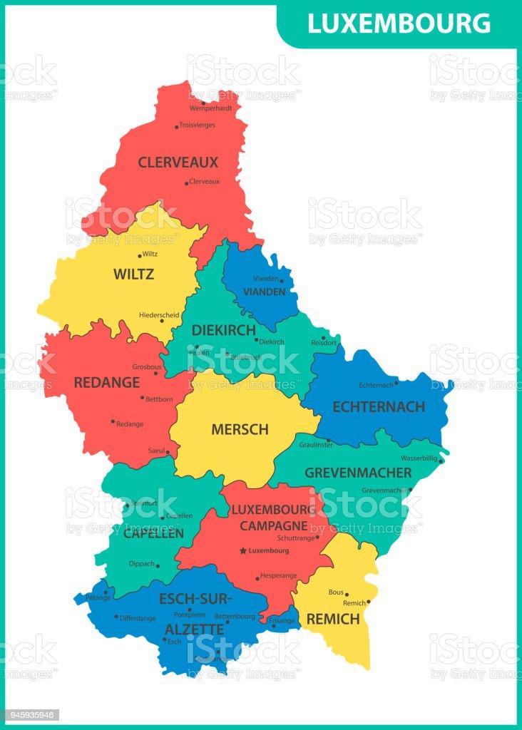 地域または州と都市首都ルクセン...