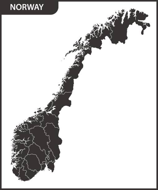 Norway Outline Map Drawing Clip Art Vector Images Illustrations - Norway map drawing