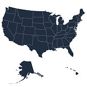istock The detailed map of the USA including Alaska and Hawaii. The United States of America 857686122