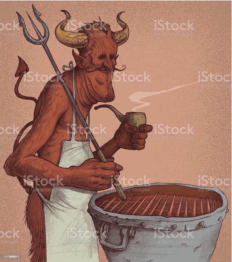 The Devils Cookout vector art illustration