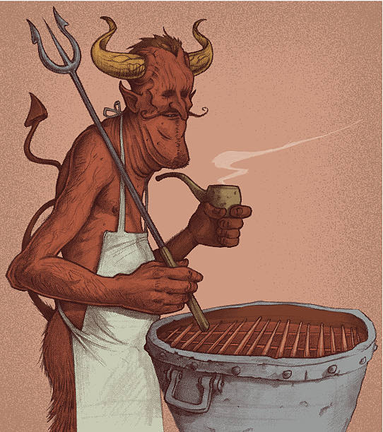 Il Devils grigliata - illustrazione arte vettoriale