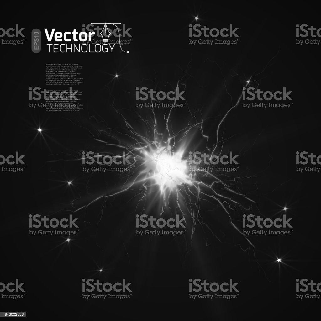 The discharge of electricity - ilustração de arte vetorial