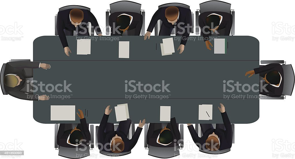 The discussion of  important matters royalty-free stock vector art