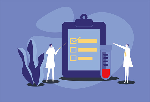 The doctor discussed the laboratory report