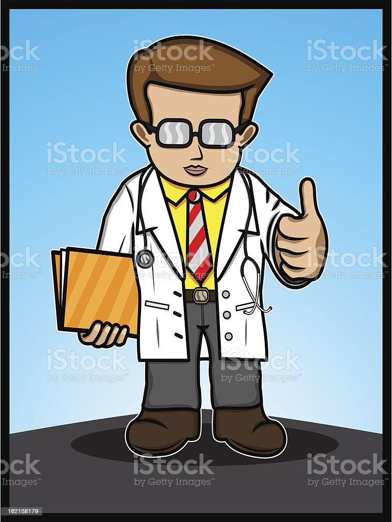 The Doctor Show Thumbs Up royalty-free stock vector art