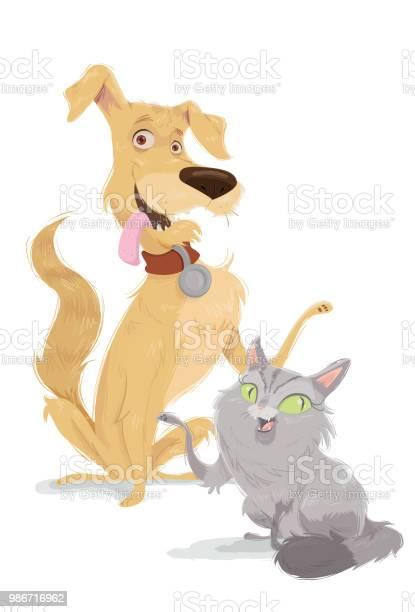 The dog and the cat vector id986716962?b=1&k=6&m=986716962&s=612x612&h=1bmq0kyauspkwd0qkmsraddckphpub7g9ifvpxuhdng=