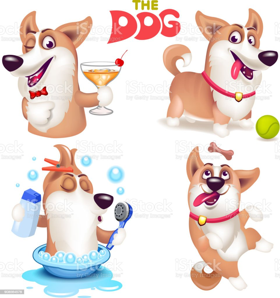 The dog vector art illustration