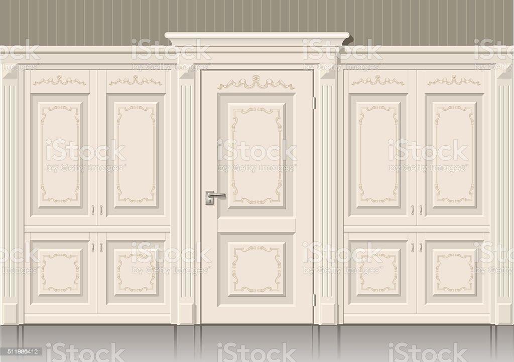 Os painéis da porta e clássico - ilustração de arte em vetor