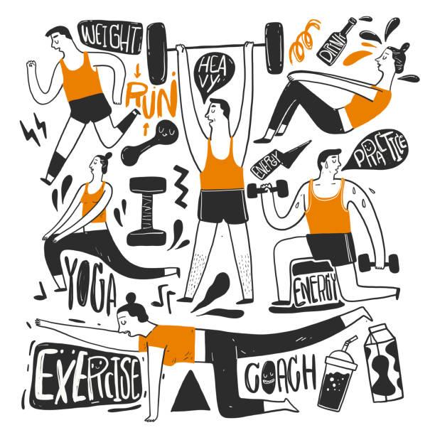 ilustrações, clipart, desenhos animados e ícones de o desenho mão que transmite. - limpando atividade móvel