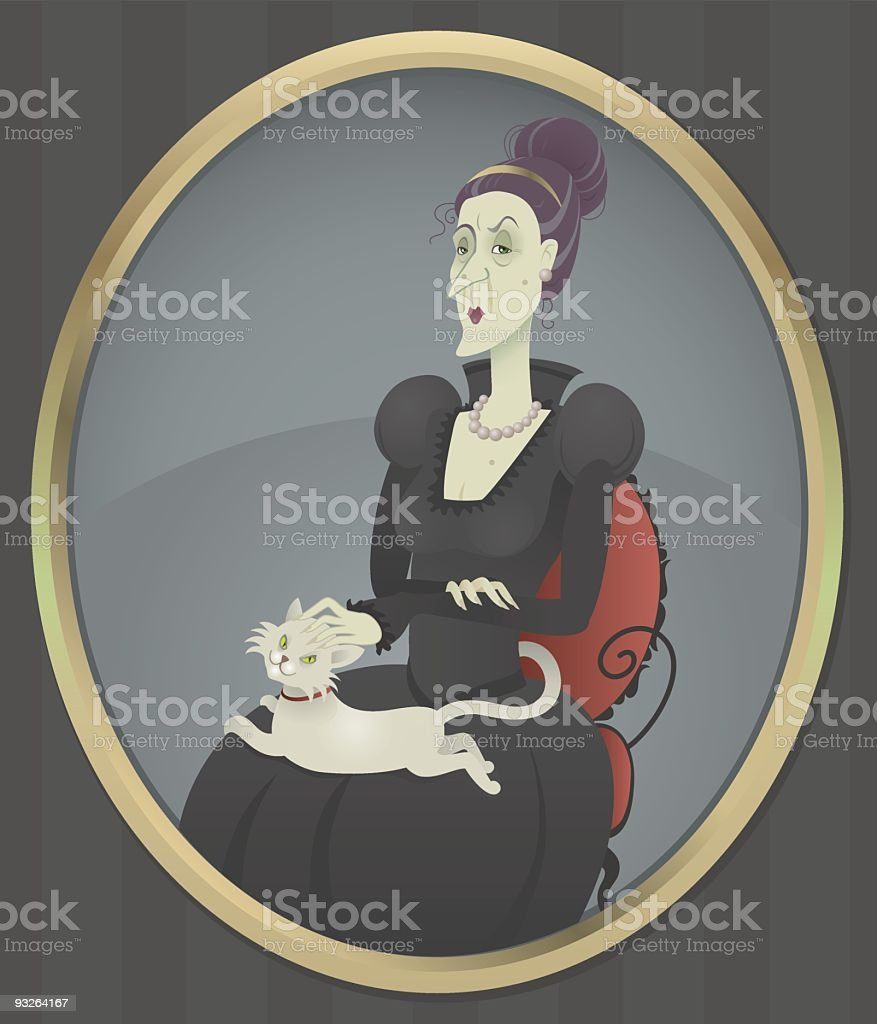 The Duchess royalty-free stock vector art