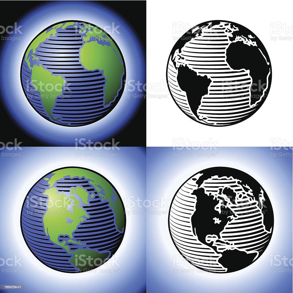 Der earth – Vektorgrafik