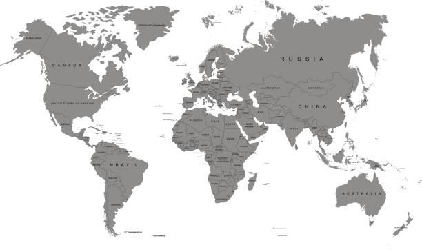 地球,白色背景上的世界地圖。南極洲。向量圖 - 烏克蘭 幅插畫檔、美工圖案、卡通及圖標
